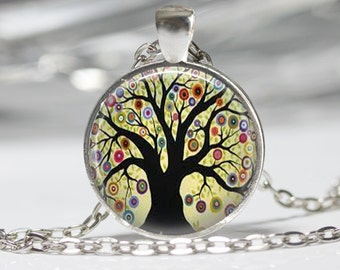 Tree Necklace Tree Pendant Wearabel Art Tree of Life Jewelry
