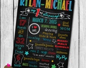 DIY - Printable MM Clubhouse Inspired Birthday Chalkboard Sign // Chalkboard Poster