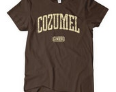 Women's Cozumel Tee - S M L XL 2x - Ladies Cozumel Mexico T-shirt - 4 Colors
