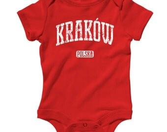 Baby Krakow Poland Romper - Infant One Piece - NB 6m 12m 18m 24m - Polish Baby - 4 Colors