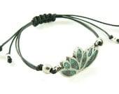 Orgone Energy Shamballa Style Bracelet - Lotus Flower Friendship Bracelet - Choose Your Stone/Color - Natural Gemstones - Artisan Jewelry