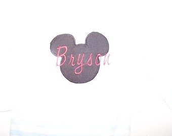 Mickey Mouse Inspired Monogrammed TShirt
