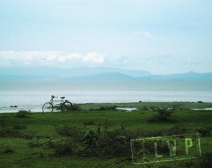 African Landscape, Bicycle On Shores of Lake Langano Ethiopia, International Travel 8x10 11x14 16x20 Fine Art Photograph