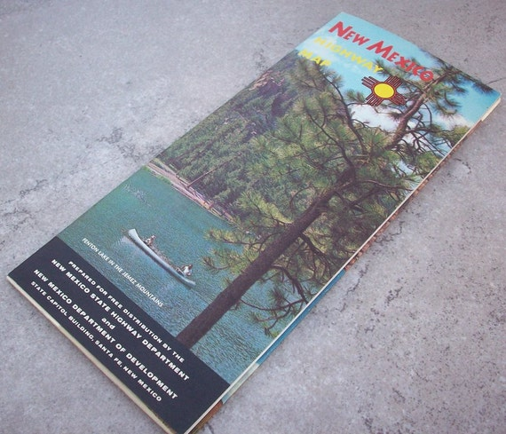 1962 New Mexico Highway Map