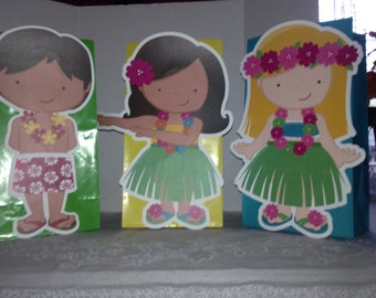 1 Cute Luau Goody Bagsy