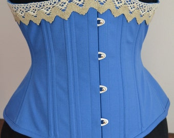 "Underbust Corset, 24"" Waist, Steel Boned for Waist Training"