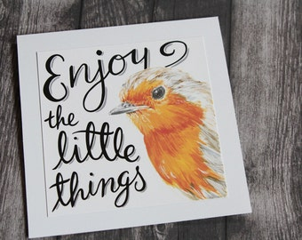 Enjoy the Little Things - English Robin Card