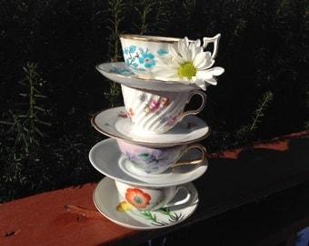 Vintage /Antique porcelain Teacups 4 set,Rosenthal,England,Japan