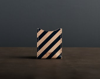 Leather Card Case / Wallet - Navy