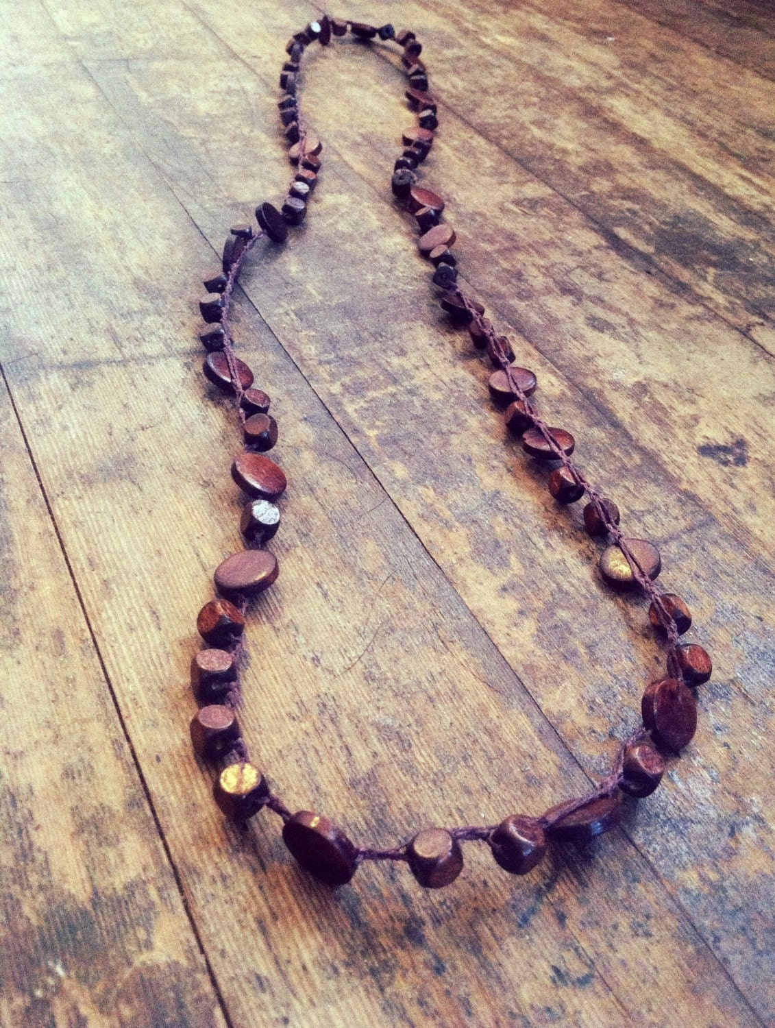 Wood You Be Mine: Versatile crocheted necklace / by FleasKnees