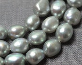Baroque pearl Large Hole Freshwater Pearl Potato Gray Loose Pearl Beads 8.5-9.5mm 32pcs Full Strand Item No : PL3097