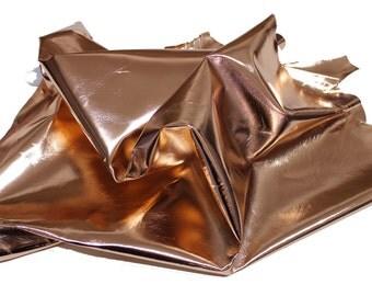 Italian Lambskin leather skin skins hide hides METALLIC ROSE GOLD 7sqf