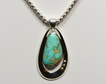 Carico Turquoise Necklace Turquoise Sterling Silver Jewelry Turquoise Jewelry