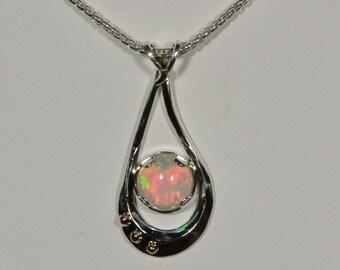 Ethiopian Opal Necklace .999 Fine Silver Opal Jewelry Opal Jewelry Handmade Opal Jewelry