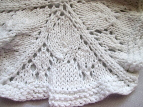 Knitting Lace In The Round : Round dishcloth knit pattern doily lace