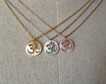 OM Necklace, Ohm Necklace, Dainty Necklace