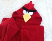 Angry Bird Personalized Hooded Towel for Bath, Pool, or Beach