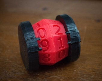 Life Counter 3D Printed Custom Colors