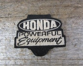 Vintage Clothing Patch Cloth Patch Honda Powerful Equipment Auto Car Motorcycle 1970s Era Shirt or Coat Patch vtg Clothing Stocking Stuffer