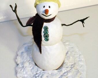 1 12 Dollhouse Miniature Snowman OOAK sculpture