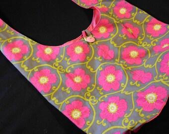 Pink Flowers Side Sling Boho Crossbody Hip Bag Purse #270