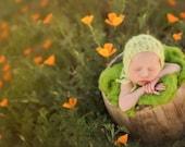 Knitting Pattern - Spring Leaf Bonnet - Newborn Photography Prop