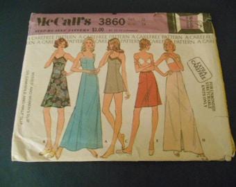 McCalls 3860, Misses slip, camisole, half slip
