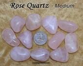Rose Quartz (medium) tumbled stone for crystal healing