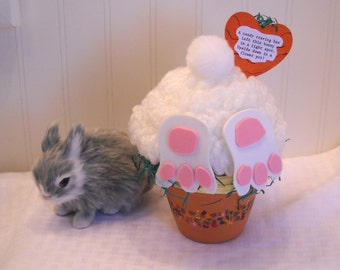 Naughty Easter Bunny -  Centerpiece - Decoration -  Smaller Version