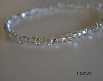 Yoga Stretch Bracelets ... Silver Seed Bead (1362)