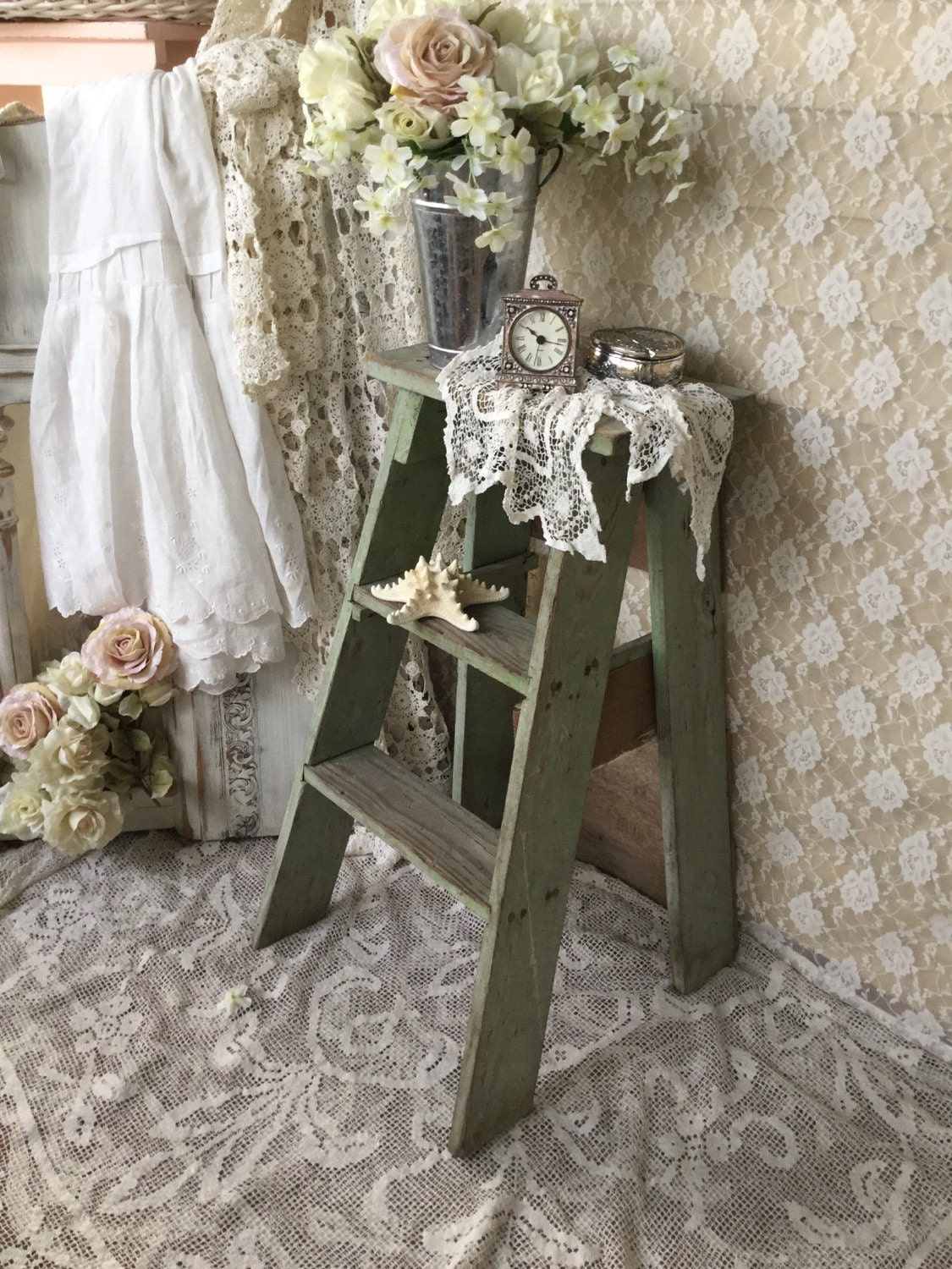 Sold Sold Sold Shabby Rustic Step Ladder Step Stoolchippy