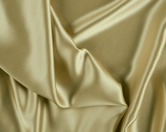 """42"""" Wide Stretch Silk Charmeuse Gold By the Yard"""