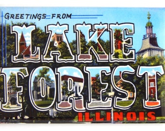 Greetings from Lake Forest Illinois Fridge Magnet