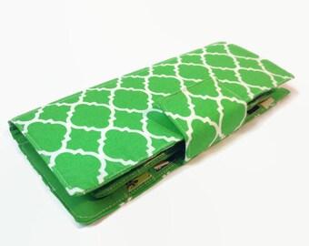 Women's Credit Card Wallet, Credit Card Organizer, Credit Card Holder, Loyalty Card Holder, Wallet, Green Women's Card Wallet