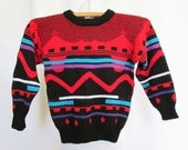 Vintage Boys Sweater 80s 90s Tough Gear 5