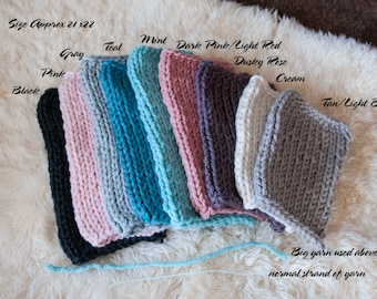 BIG YARN Mini Blankets for Posing Newborn Babies