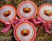 Elmo Centerpiece-Sesame Street Centerpiece-Elmo Birthday Party-Sesame Street Birthday Party-Elmo Party Decoration-Sesame Street Decoration