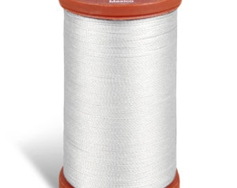 Sewing Thread, Upholstery Thread, 0100 White Coats and Clark Upholstery Button Thread, Extra Strong Nylon, 150 yds