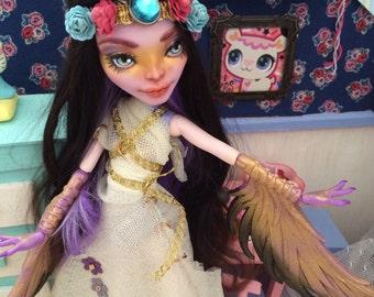 meet harpy hypatia custom ooak monster high doll