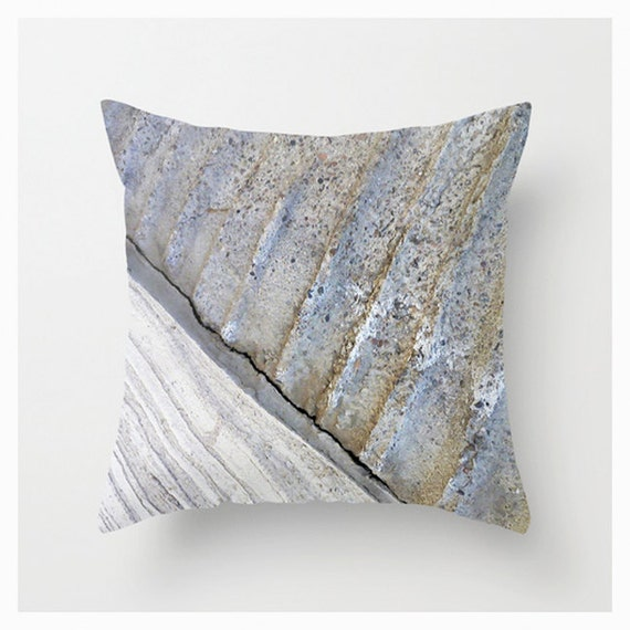 Steel Blue Throw Pillows : Steel Blue Taupe Pillow Cover Throw Teal Turquoise Brown
