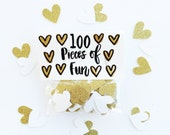 Party Confetti, Gold and white, Gold and white wedding, Gold and white party, Gold and white birthday, gold and white decor, gold and white