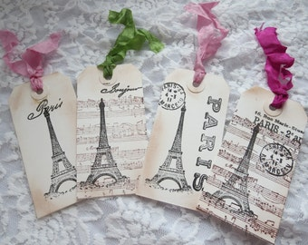 Eiffel Tower Gift Tags, tags, Gift tags, Eiffel Tower, Paris, Party, Cards