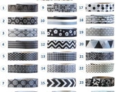 Washi Tape - BLACK and WHITE Collection