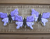 Butterfly Sugar Cookies / Butterfly Favors / Wedding Favors / Gifts for Mom / Spring Wedding / Monarch Butterfly Sugar Cookies - 12 cookies