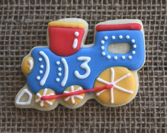 Train Favors / Train Birthday Party / Train Party Favors / Locomotive Party Favors / Train Decorations / Train Sugar Cookies - 12 cookies