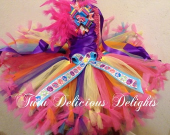 My Little Pony Rainbow Petti Tutu Dress My Little Pony Dress, My Little Pony Party, Birthday Tutu Dresses