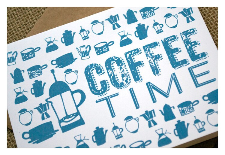 Coffee Time Thank You Notes Coffee Graphics by SparetireDesign