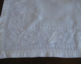 Nine Matching Embroidered Place Mats, Re-Use, Upcycle