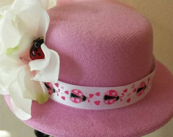 Love Bug Mini Top Hat Fascinator