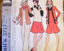 McCalls 3717 vest jacket skirt pants bust 36 pattern